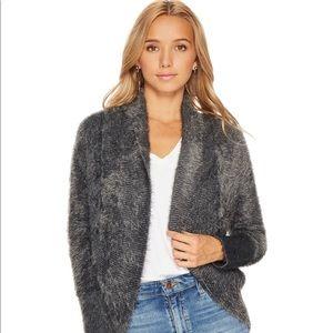 NWT BB Dakota Charcoal Gray Fuzzy Circle Sweater